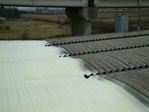 Incapsulamento copertura d'amianto con poliuretano