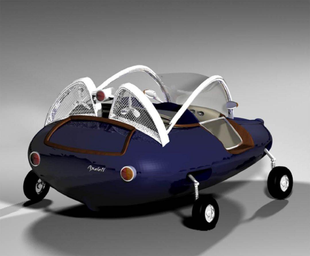 Axolotl: ibrido a carburante ed a energia eolica e solare