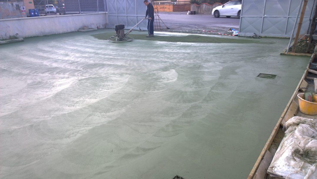 Realizzazione di pavimento industriale