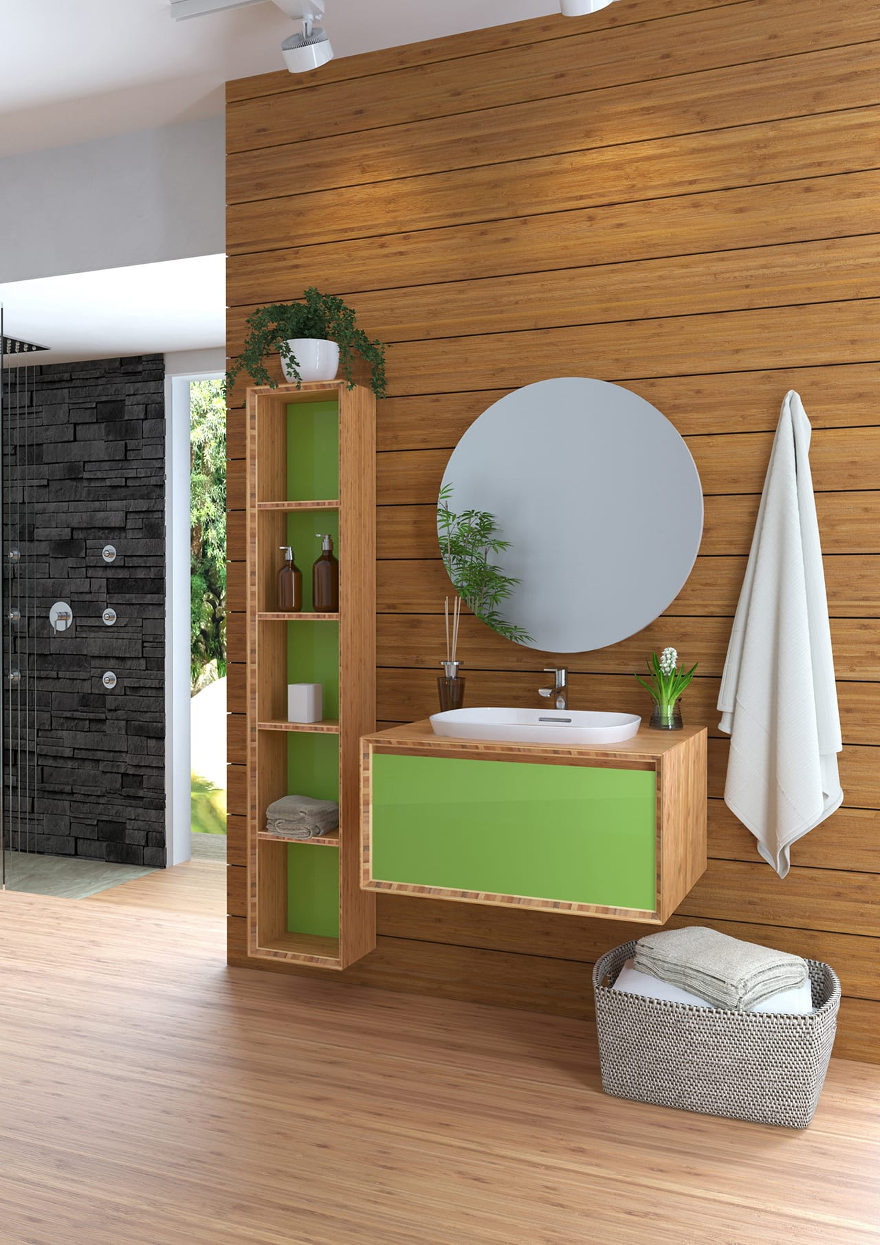 BAMBOO pavimento rivestimento forniture bagno