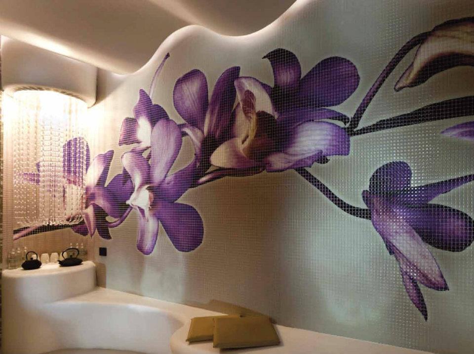 MOSAICO personalizzato interni floreale