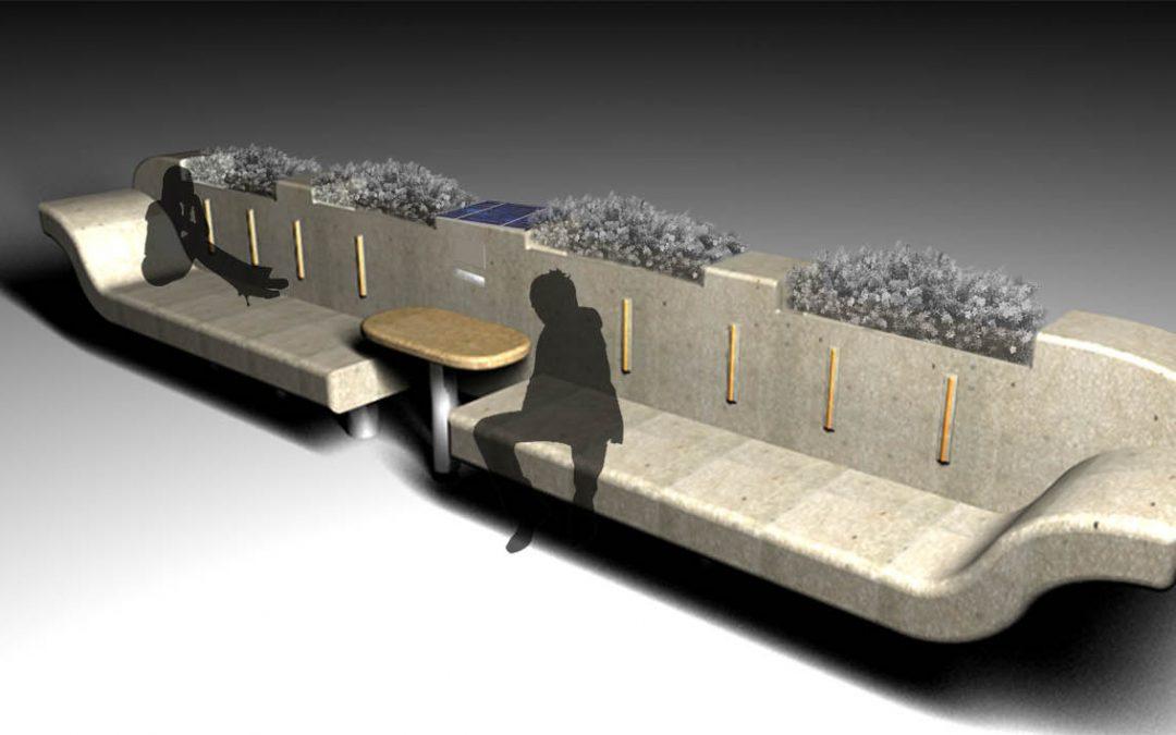 Panchina: arredo urbano ad energia solare con wifi